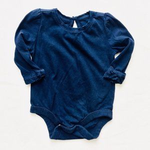 Baby Gap Navy Blue Princess Cut Shoulder Onesie